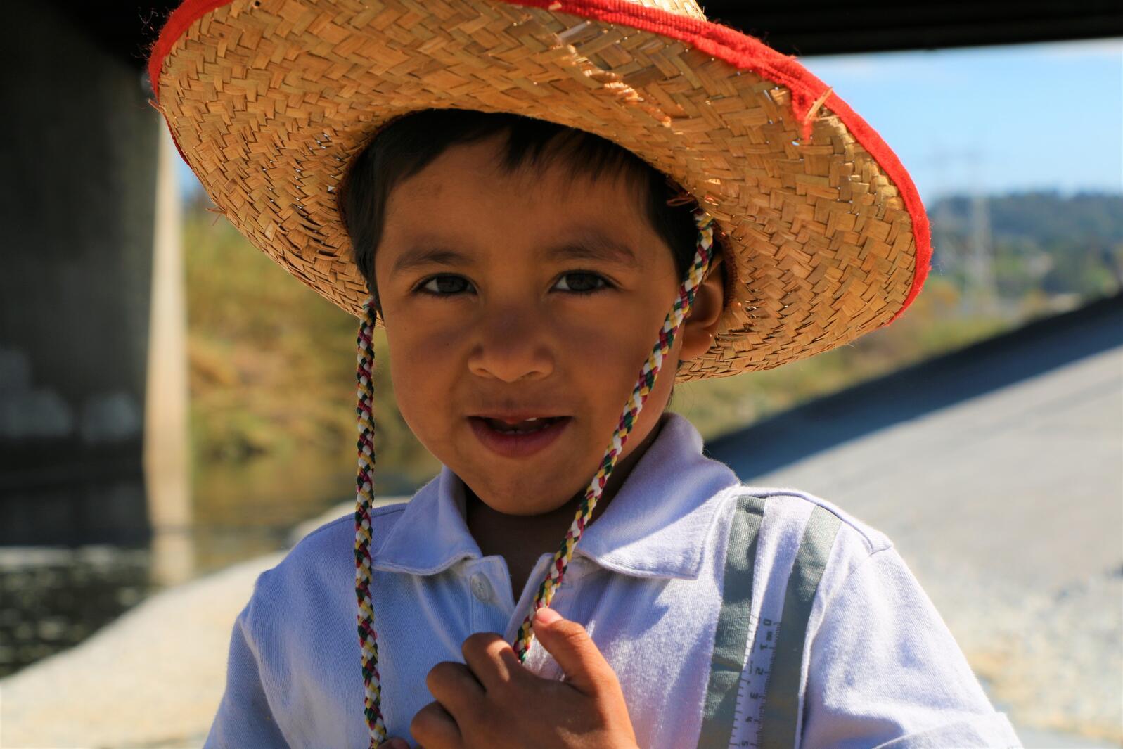 Boy along LA River