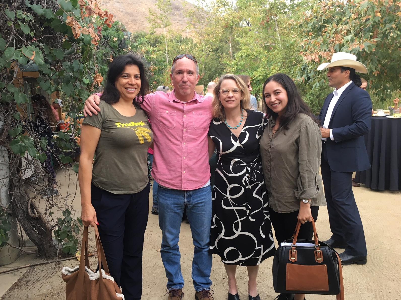 Cindy Montañez (TreePeople), Dan Knapp (LBCC), Sarah Rose, Sarah Rascon (MRCA)