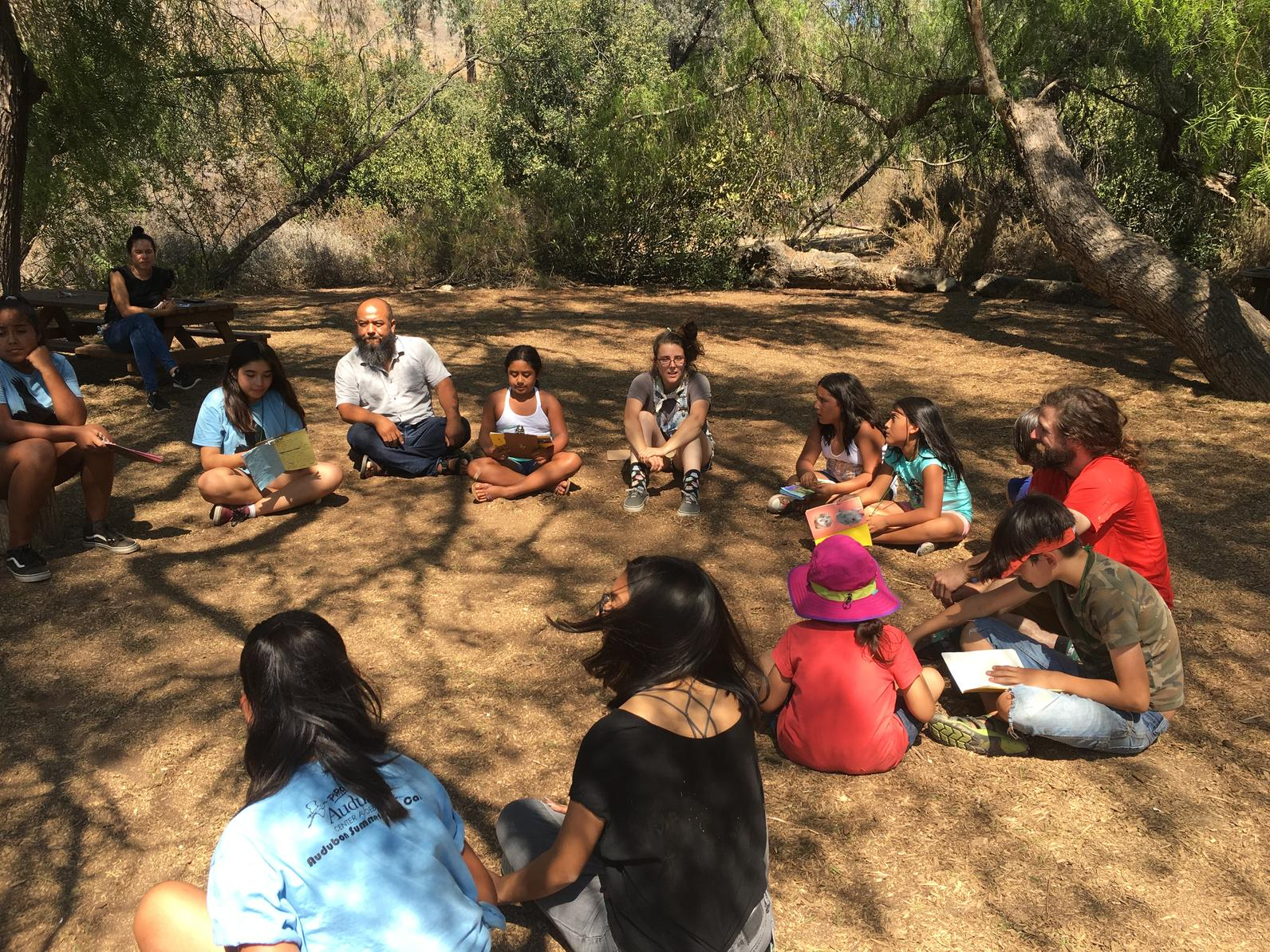 Sharing experiences and observations at Closing Circle