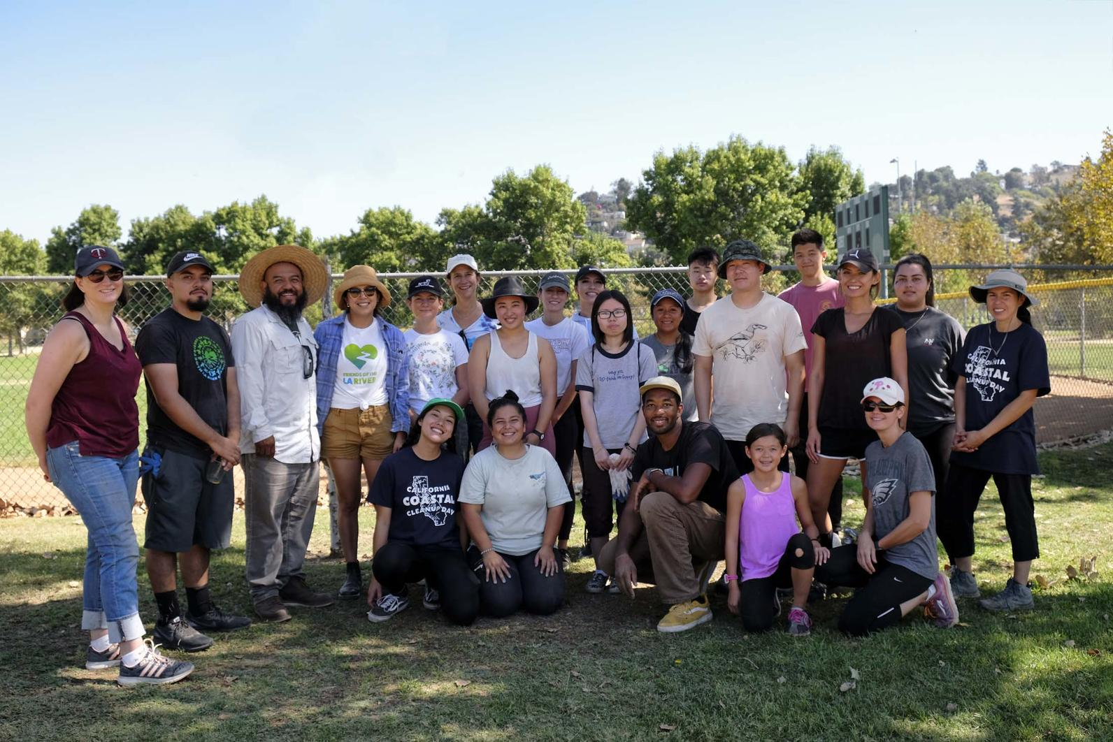 Volunteers after a successful event at Rio de Los Angeles State Park