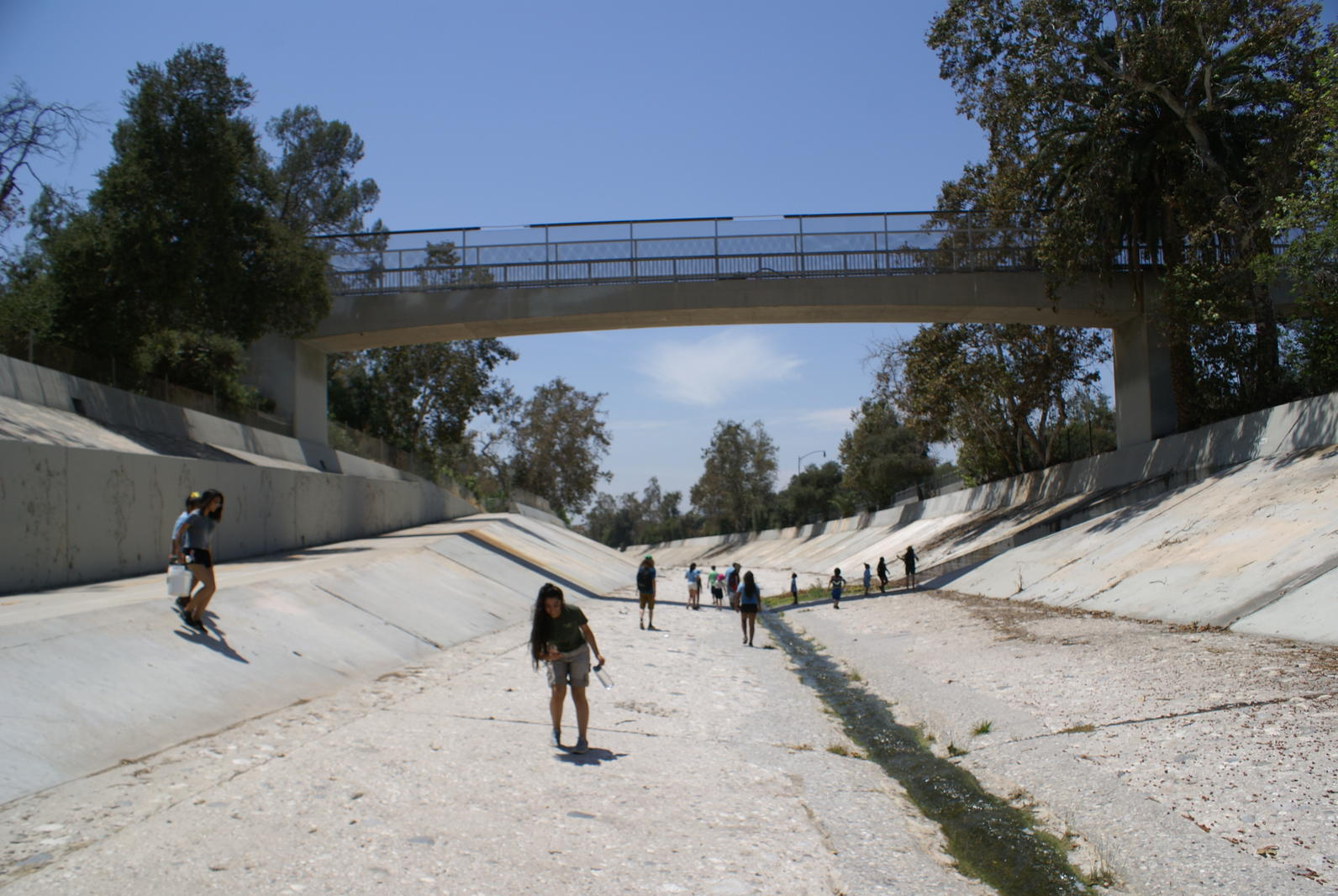 Campers in the Arroyo Seco